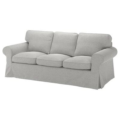 EKTORP 3-seters sofa Tallmyra hvit/svart/grå 218 cm 88 cm 88 cm 54 cm 45 cm