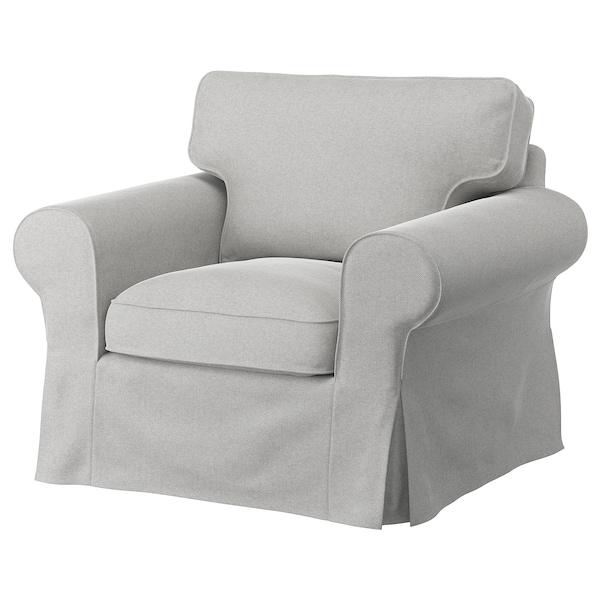 EKTORP Lenestol, Tallmyra hvit/svart/grå