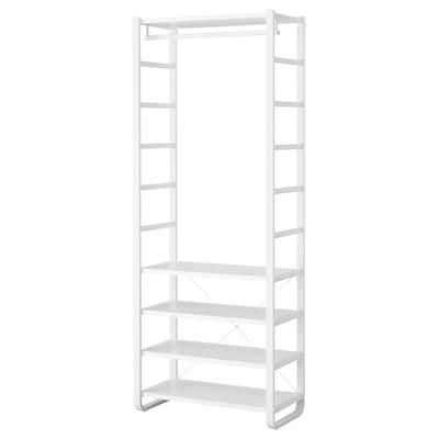 ELVARLI Garderobekombinasjon, hvit, 84x40x216 cm