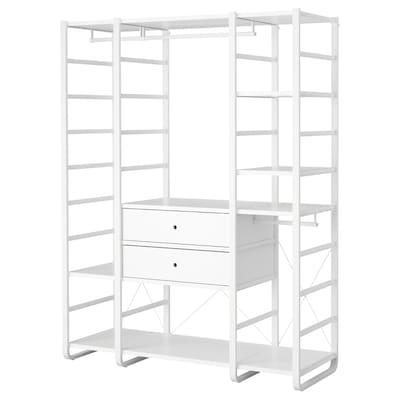 ELVARLI Garderobekombinasjon, hvit, 165x55x216 cm