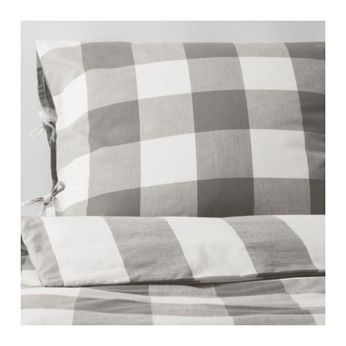 emmie ruta dobbelt sengesett 240x220 50x60 cm ikea. Black Bedroom Furniture Sets. Home Design Ideas
