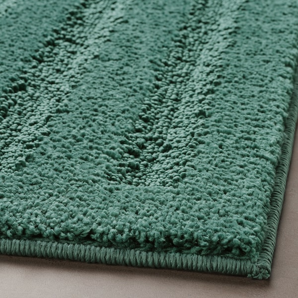 EMTEN Baderomsmatte, blå/grønn, 50x80 cm
