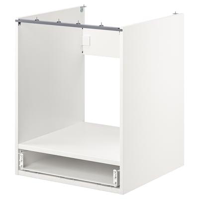 ENHET Benkeskap med skuff for ovn, hvit, 60x60x75 cm