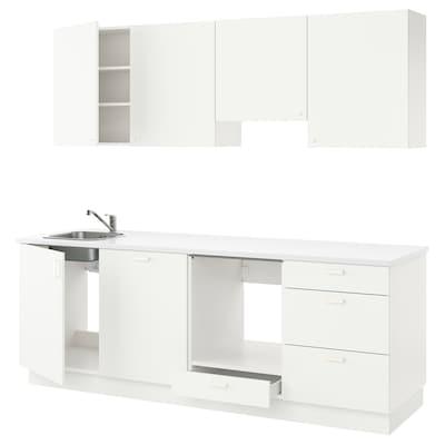 ENHET Kjøkken, hvit, 243x63.5x222 cm