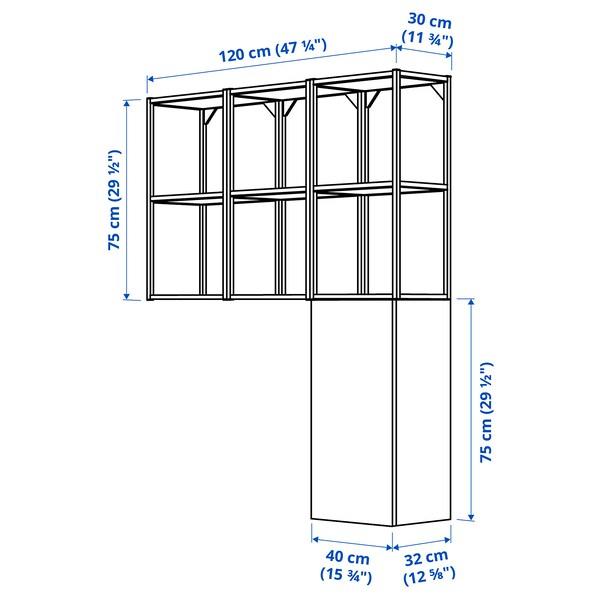 ENHET Veggoppbevaring, antrasitt/betongmønstret, 120x32x150 cm