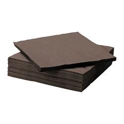 FANTASTISK papirservietter, brun/grønn