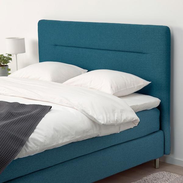 FINNSNES Kontinentalseng, Hövåg fast/Tuddal blå, 180x200 cm