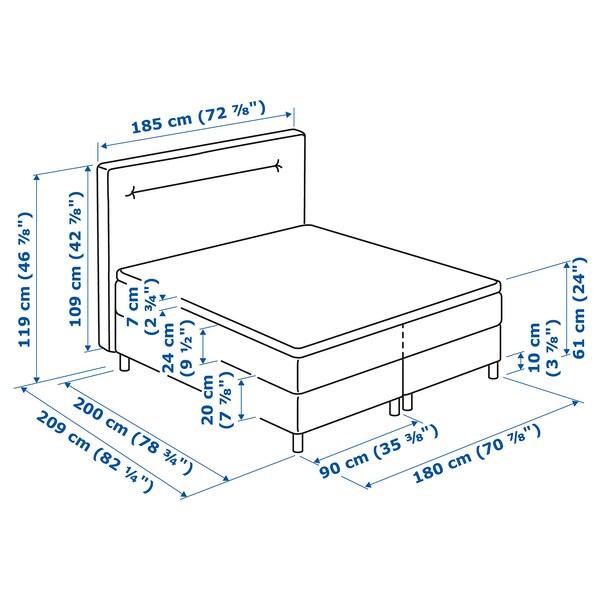 FINNSNES Kontinentalseng, Hövåg medium/Tussöy blå, 180x200 cm