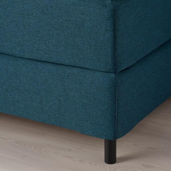 FINNSNES Kontinentalseng, Hyllestad fast/Tustna blå, 180x200 cm