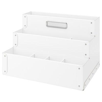 FJÄLLA oppbevaring til arbeidsbord hvit 35 cm 25 cm 21 cm