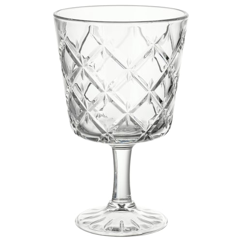 FLIMRA glass med stett klart glass/mønstret 13.7 cm 23 cl