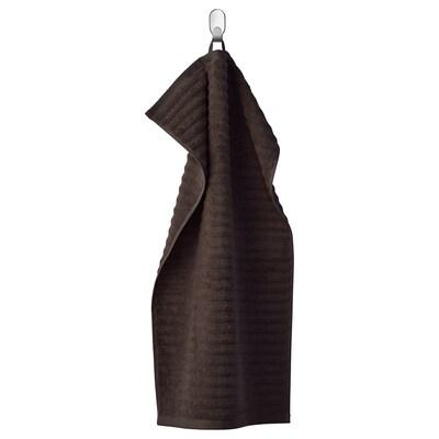 FLODALEN Håndkle, mørk brun, 40x70 cm