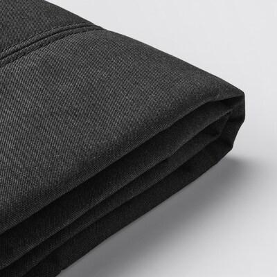 FLOTTEBO trekk til sovesofa Vissle mørk grå 120 cm