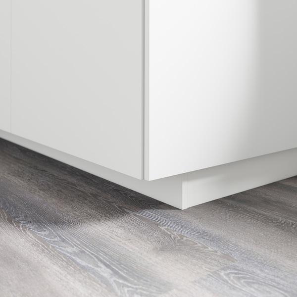 FÖRBÄTTRA Sokkelfront, matt hvit, 220x8 cm