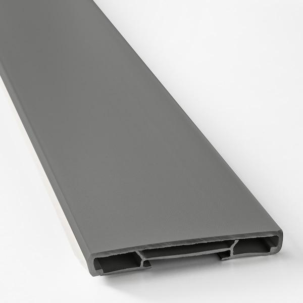 FÖRBÄTTRA Sokkelfront, mørk grå, 220x8 cm