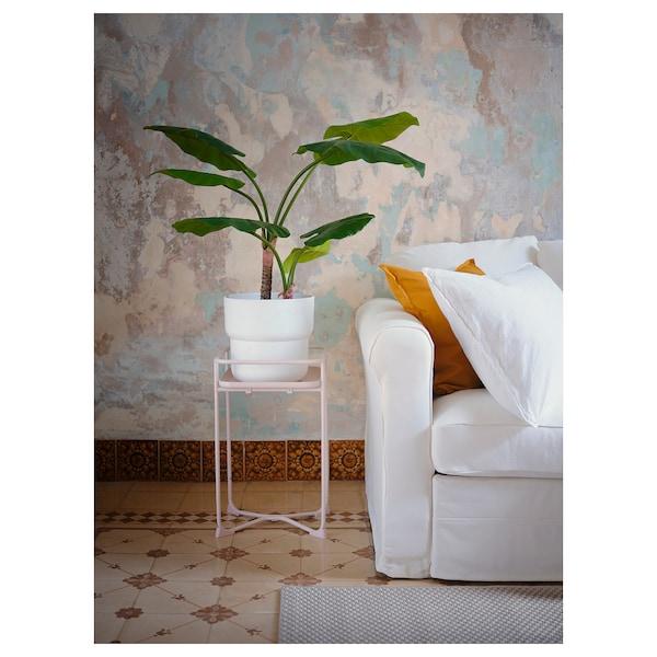 FÖRENLIG Blomsterpotte, inne/ute hvit, 24 cm
