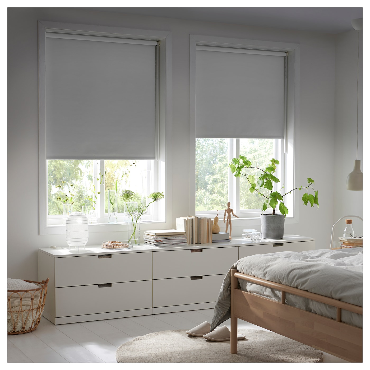 FRIDANS Lystett rullegardin, grå, 60x195 cm