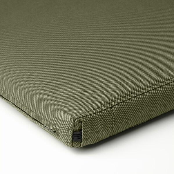 FRÖSÖN/DUVHOLMEN Stolpute, utendørs, mørk beige-grønn, 50x50 cm