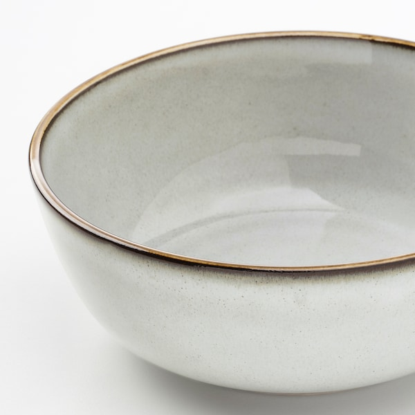 GLADELIG Skål, grå, 14 cm