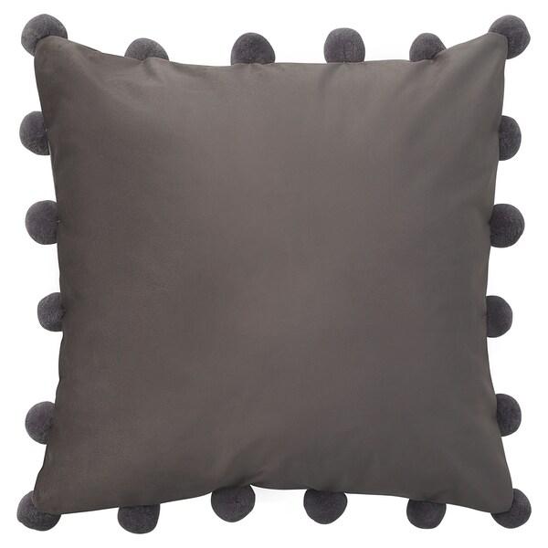 GLANSFLY Putetrekk, grå, 50x50 cm