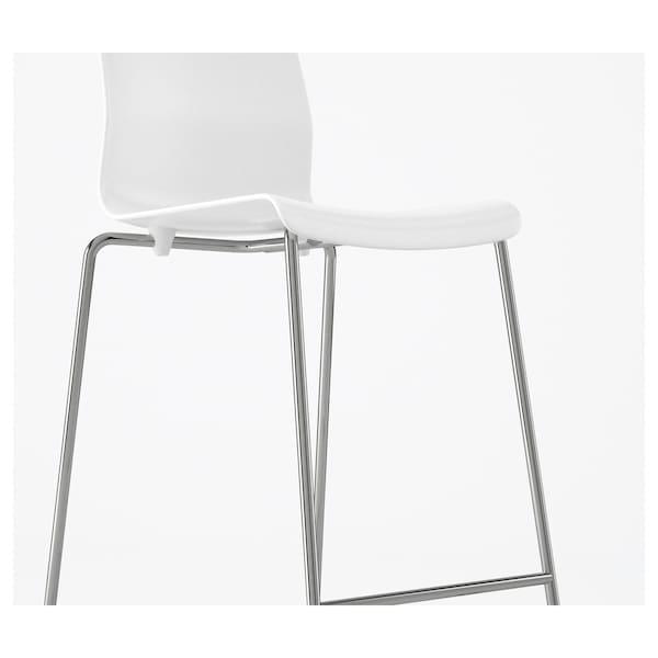 GLENN Barkrakk, hvit/forkrommet, 66 cm