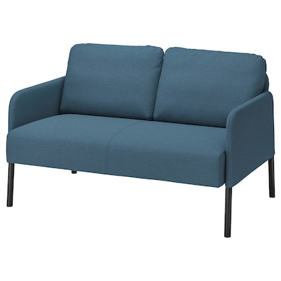 GLOSTAD 2-seters sofa, Knisa mellomblå
