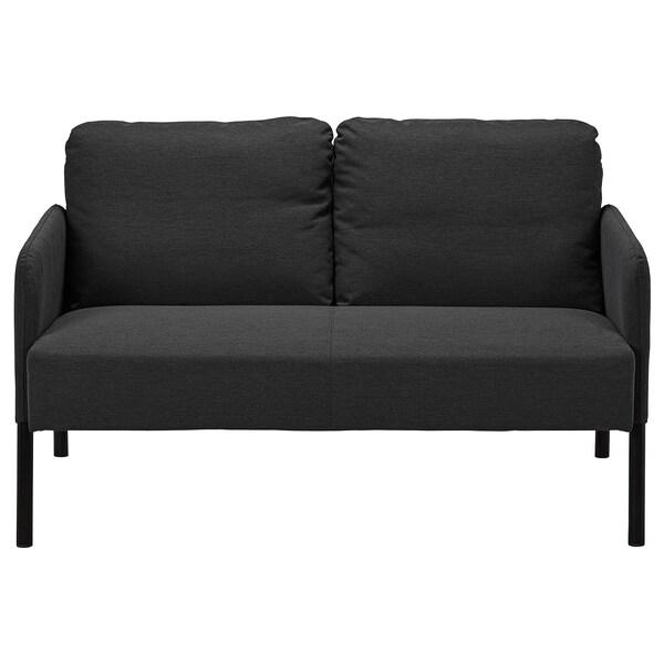 GLOSTAD 2-seters sofa, Knisa mørk grå