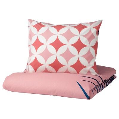 GRACIÖS enkelt sengesett flisemønster/rosa 200 cm 150 cm 50 cm 60 cm