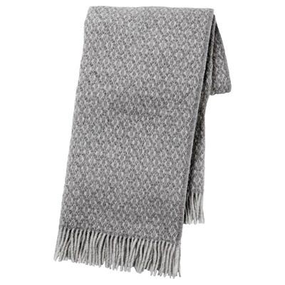 GRÅFIBBLA Pledd, grå, 150x200 cm