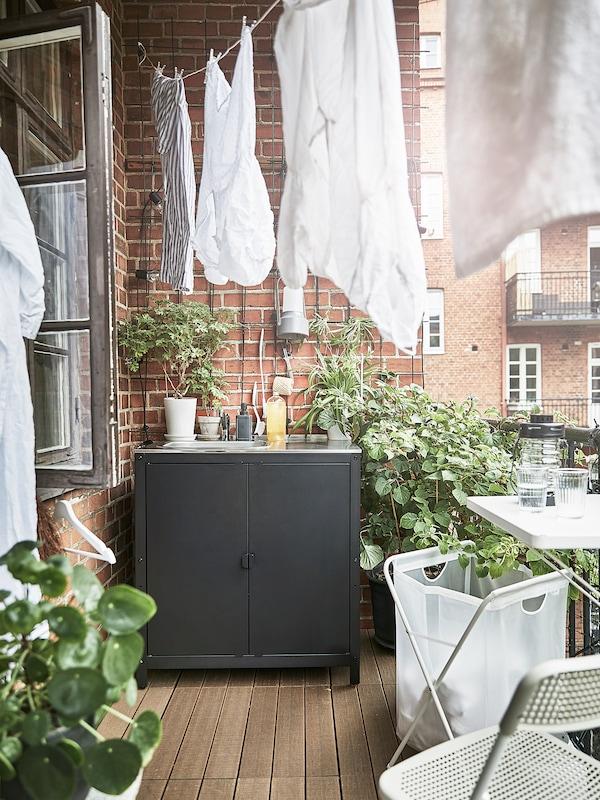 GRILLSKÄR Dør/sider/rygg, svart/rustfritt stål utendørs, 86x61 cm