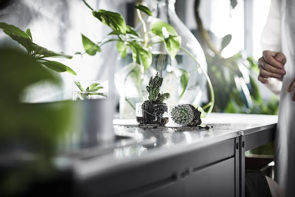 GRILLSKÄR Hylle til kjøkkenøy, rustfritt stål, 86x61 cm