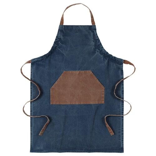 GRILLTIDER forkle blå/brun 92 cm 69 cm