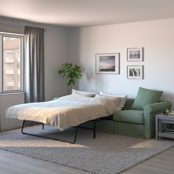 GRÖNLID 3-seters sovesofa, Ljungen lys grønn