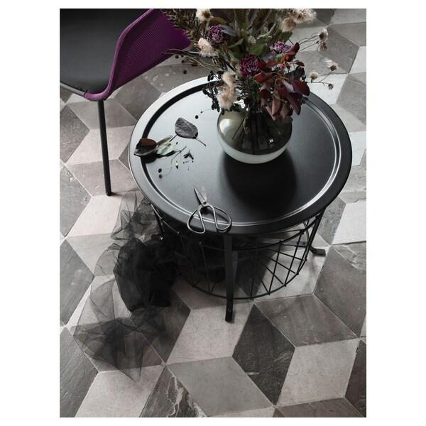 GUALÖV Oppbevaringsbord, svart, 60 cm
