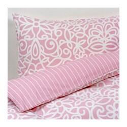 GULLBÅGE enkelt sengesett, rosa