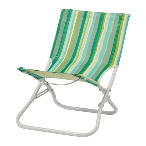 HÅMÖ Strandstol , sammenleggbar grønn, stripe Bredde: 54 cm Høyde: 63 cm Setehøyde: 30 cm / 30 cm Vekt: 3 kg