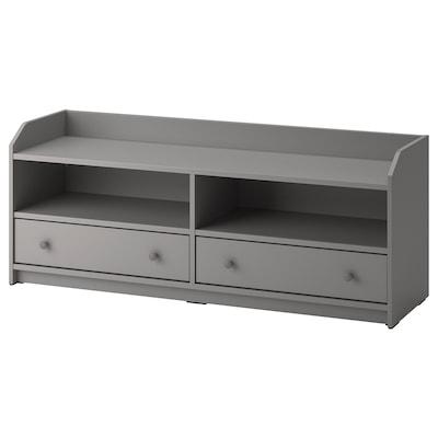 HAUGA TV-benk, grå, 138x36x54 cm