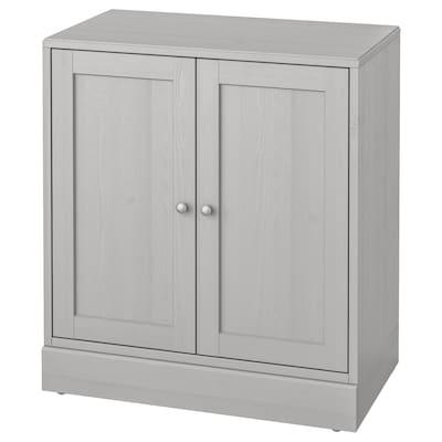HAVSTA Skap med sokkel, grå, 81x47x89 cm