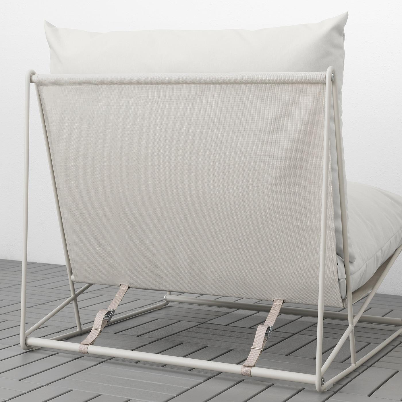 HAVSTEN Lenestol, inneutendørs beige 83x94x90 cm