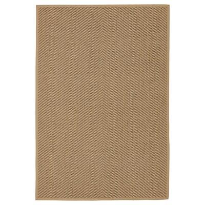 HELLESTED Teppe, flatvevd, natur/brun, 133x195 cm