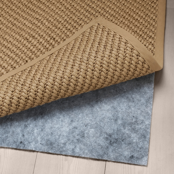 HELLESTED Teppe, flatvevd, natur/brun, 80x250 cm