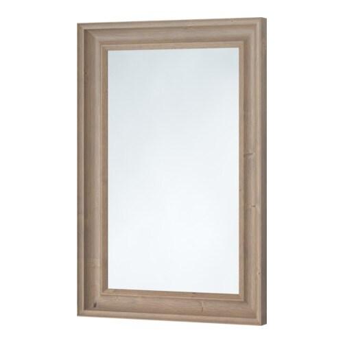 HEMNES Speil IKEA Kan henges horisontalt eller vertikalt. Kommer med sikkerhetsfilm - minsker risikoen for skader om glasset knuses.