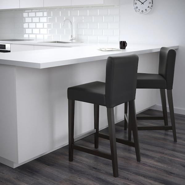 HENRIKSDAL Barstol brunsvartGlose svart IKEA
