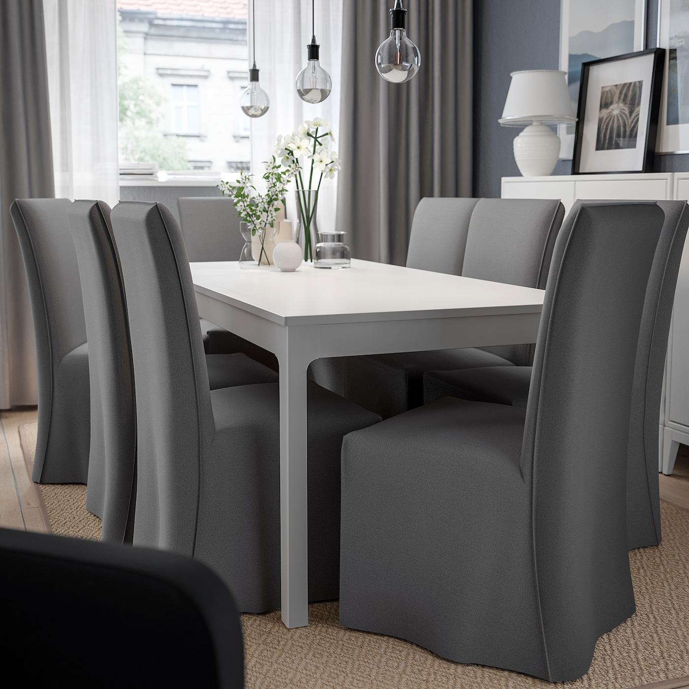 HENRIKSDAL Stol med langt trekk mørk brunRisane grå IKEA