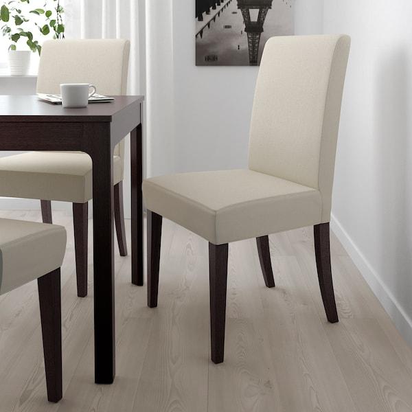 HENRIKSDAL Stol mørk brunLinneryd natur IKEA