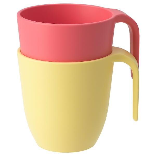HEROISK Kopp, lys rød/gul, 25 cl