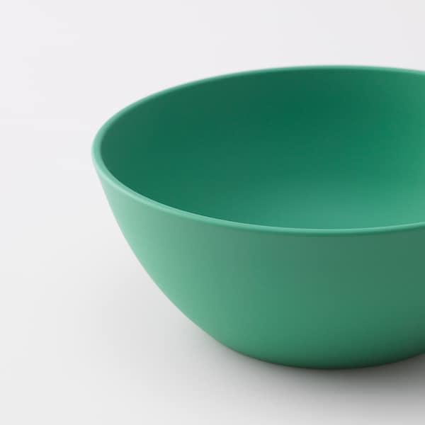 HEROISK Skål, grønn/gul, 14 cm