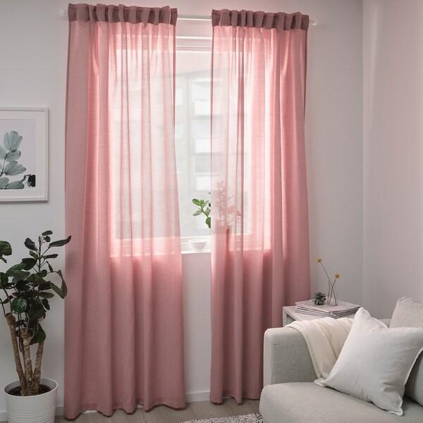 HILJA gardiner, 1 par lys rød 250 cm 145 cm 0.60 kg 3.63 m² 2 stk.