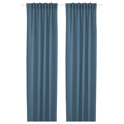 HILJA gardiner, 1 par blå 250 cm 145 cm 0.60 kg 3.63 m² 2 stk.