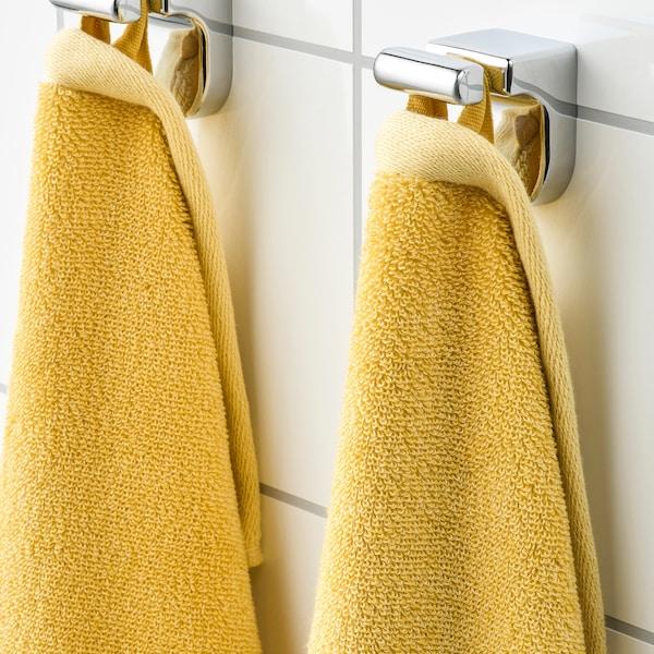 HIMLEÅN Badehåndkle, gul/melert, 70x140 cm
